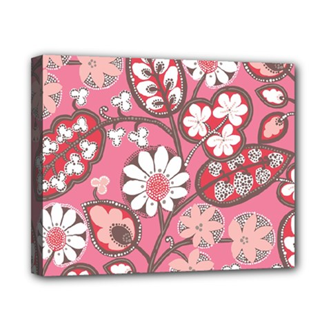 Flower Floral Red Blush Pink Canvas 10  x 8