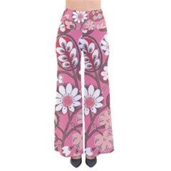 Flower Floral Red Blush Pink Pants