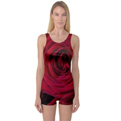 Roses Flowers Red Forest Bloom One Piece Boyleg Swimsuit