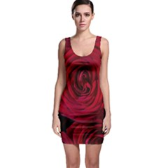 Roses Flowers Red Forest Bloom Sleeveless Bodycon Dress