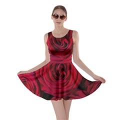 Roses Flowers Red Forest Bloom Skater Dress