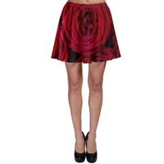 Roses Flowers Red Forest Bloom Skater Skirt