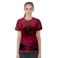Roses Flowers Red Forest Bloom Women s Sport Mesh Tee