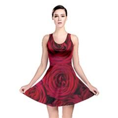 Roses Flowers Red Forest Bloom Reversible Skater Dress