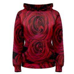Roses Flowers Red Forest Bloom Women s Pullover Hoodie