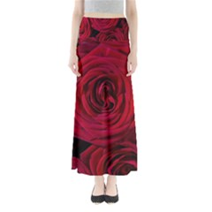 Roses Flowers Red Forest Bloom Maxi Skirts
