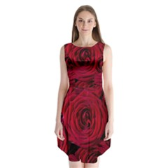 Roses Flowers Red Forest Bloom Sleeveless Chiffon Dress