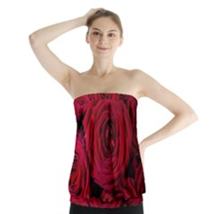 Roses Flowers Red Forest Bloom Strapless Top