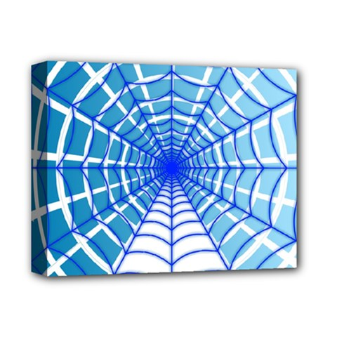 Cobweb Network Points Lines Deluxe Canvas 14  X 11