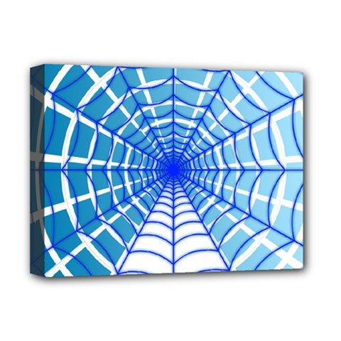 Cobweb Network Points Lines Deluxe Canvas 16  X 12