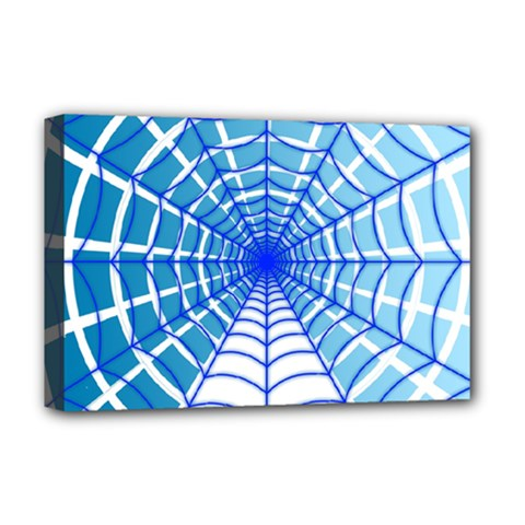 Cobweb Network Points Lines Deluxe Canvas 18  X 12