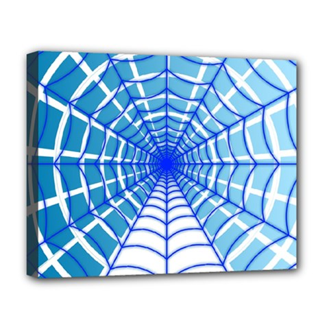 Cobweb Network Points Lines Deluxe Canvas 20  X 16