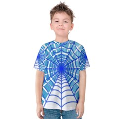 Cobweb Network Points Lines Kids  Cotton Tee
