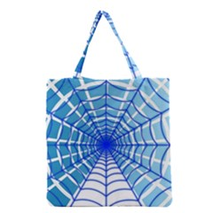 Cobweb Network Points Lines Grocery Tote Bag