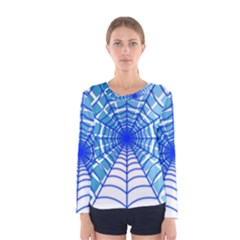 Cobweb Network Points Lines Women s Long Sleeve Tee