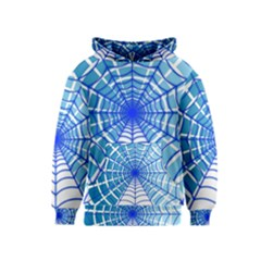 Cobweb Network Points Lines Kids  Pullover Hoodie