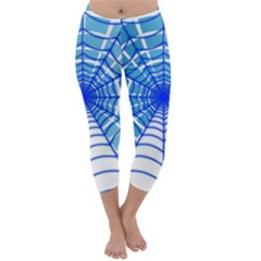 Cobweb Network Points Lines Capri Winter Leggings