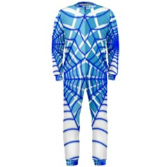 Cobweb Network Points Lines OnePiece Jumpsuit (Men)