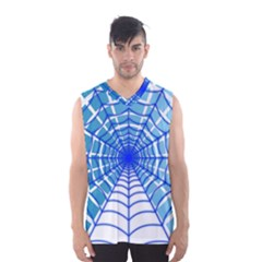 Cobweb Network Points Lines Men s Basketball Tank Top