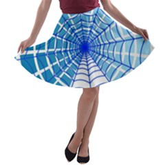 Cobweb Network Points Lines A Line Skater Skirt