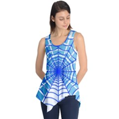 Cobweb Network Points Lines Sleeveless Tunic