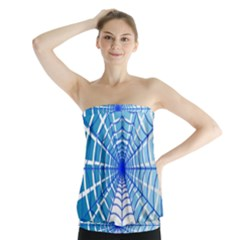 Cobweb Network Points Lines Strapless Top
