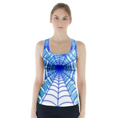 Cobweb Network Points Lines Racer Back Sports Top