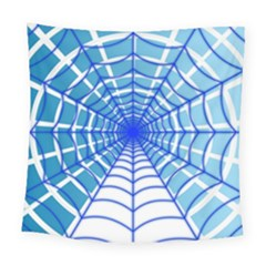 Cobweb Network Points Lines Square Tapestry (large)