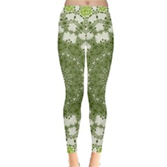 Mandala Center Strength Motivation Leggings