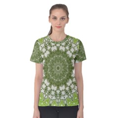 Mandala Center Strength Motivation Women s Cotton Tee