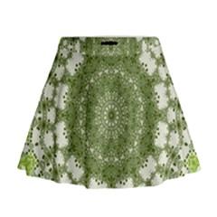 Mandala Center Strength Motivation Mini Flare Skirt