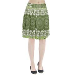 Mandala Center Strength Motivation Pleated Skirt