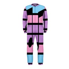 Music Gender Pride Note Flag Blue Pink Purple OnePiece Jumpsuit (Kids)