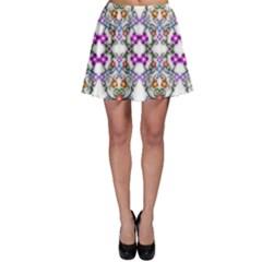 Floral Ornament Baby Girl Design Skater Skirt