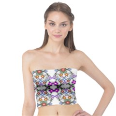 Floral Ornament Baby Girl Design Tube Top