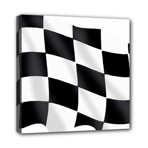 Flag Chess Corse Race Auto Road Mini Canvas 8  x 8