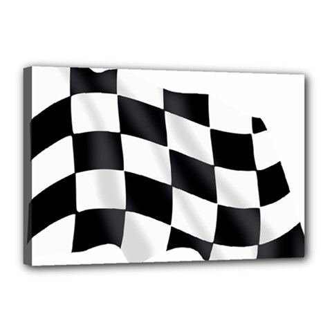 Flag Chess Corse Race Auto Road Canvas 18  x 12