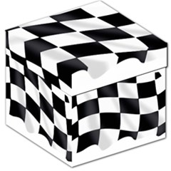 Flag Chess Corse Race Auto Road Storage Stool 12