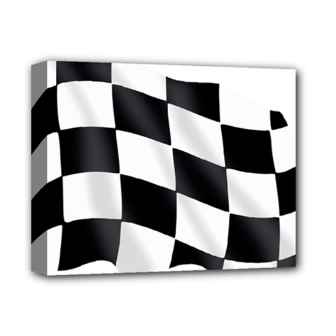 Flag Chess Corse Race Auto Road Deluxe Canvas 14  X 11