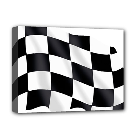 Flag Chess Corse Race Auto Road Deluxe Canvas 16  x 12