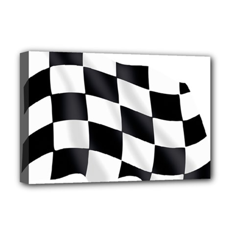 Flag Chess Corse Race Auto Road Deluxe Canvas 18  X 12
