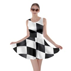 Flag Chess Corse Race Auto Road Skater Dress