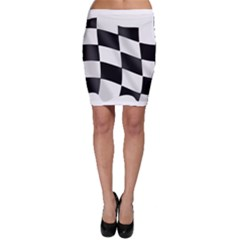 Flag Chess Corse Race Auto Road Bodycon Skirt