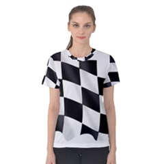 Flag Chess Corse Race Auto Road Women s Cotton Tee