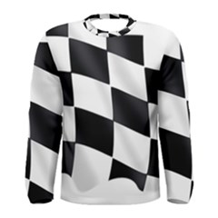 Flag Chess Corse Race Auto Road Men s Long Sleeve Tee