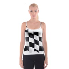 Flag Chess Corse Race Auto Road Spaghetti Strap Top