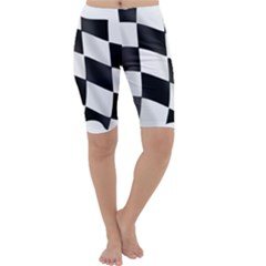 Flag Chess Corse Race Auto Road Cropped Leggings