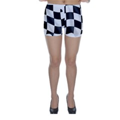 Flag Chess Corse Race Auto Road Skinny Shorts