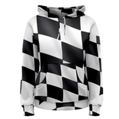 Flag Chess Corse Race Auto Road Women s Pullover Hoodie