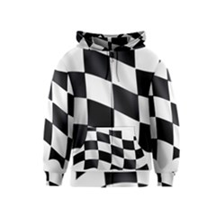 Flag Chess Corse Race Auto Road Kids  Zipper Hoodie